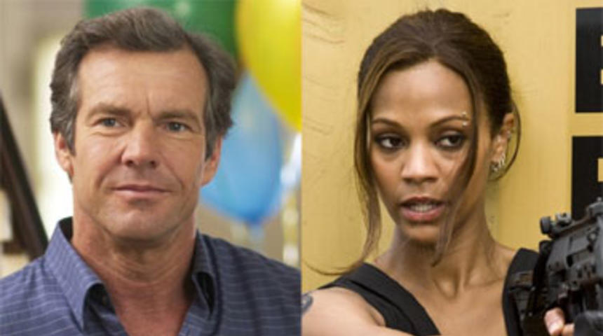 Dennis Quaid et Zoe Saldana dans The Words