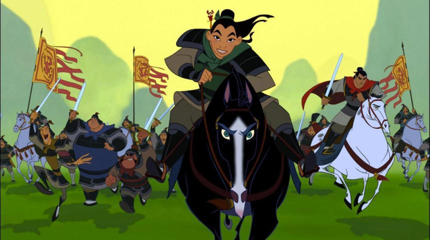 Une reprise en action réelle de Mulan en chantier