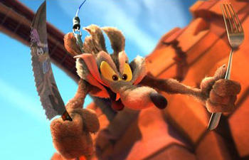 Wile E. Coyote tentera de capturer Road Runner en 3D