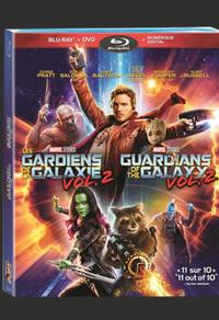 Combo Blu-ray/DVD du film Les gardiens de la galaxie vol. 2